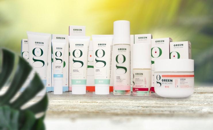 Photos des produits Green Kin Care dont Depil&Young, est partenaire
